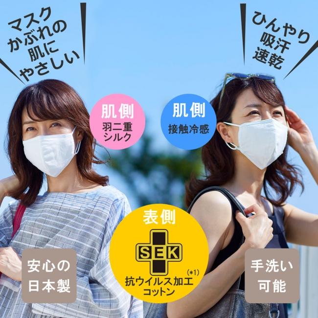 家庭画報オリジナル抗ウイルス 夏用布マスク