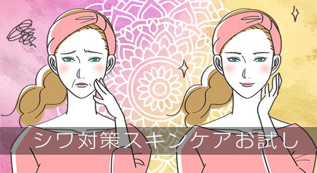 シワ対策のスキンケア お試し化粧品